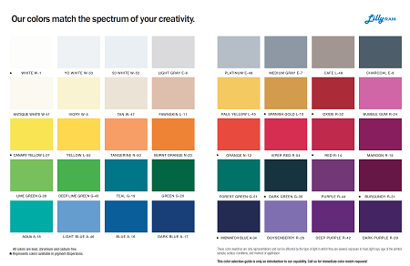 Gelcoat Color Chart
