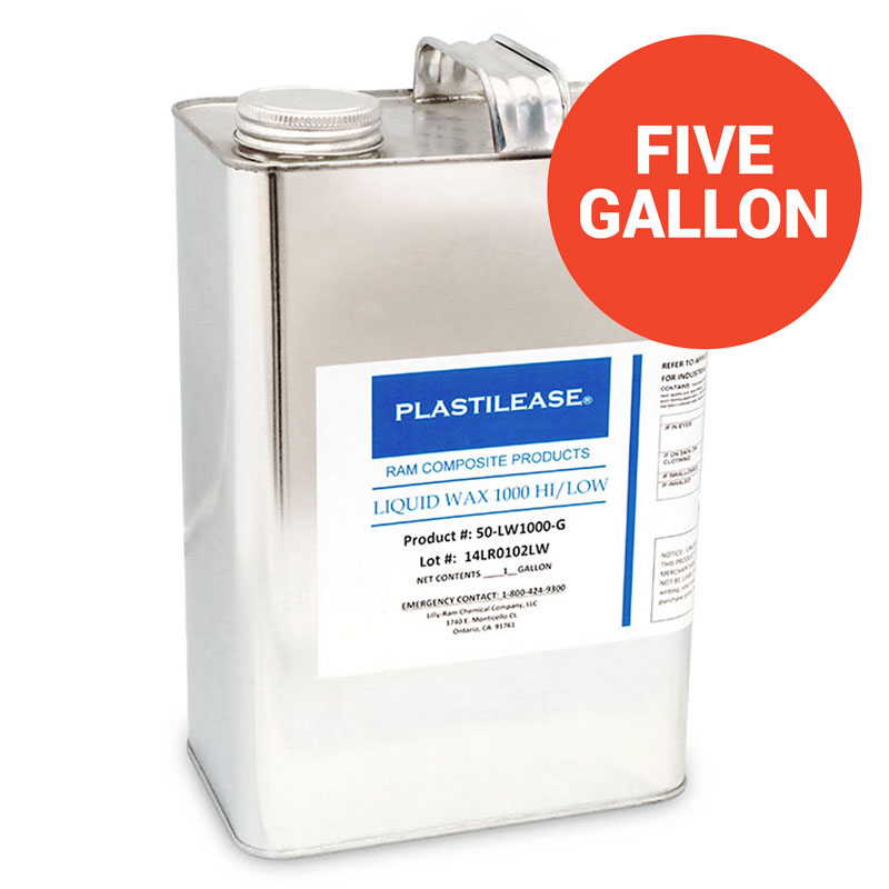 Plastilease Liquid Wax Mold Release 1000 (5 Gallon Pail)
