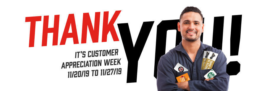 It's Customer Appreciation Week (Updated 11/22)