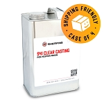 S41 Clear Casting Polyester Resin (Case of 4, 1 Gallon ea.)