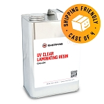UV Clear Laminating Resin (Case of 4, 1 Gallon ea.)