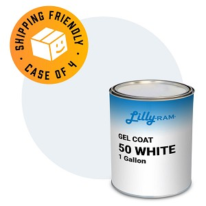 50 White Gel Coat  (Case of 4, 1 gallon ea.)