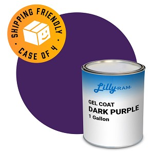 Dark Purple Gel Coat (Case of 4, 1 gallon ea.)