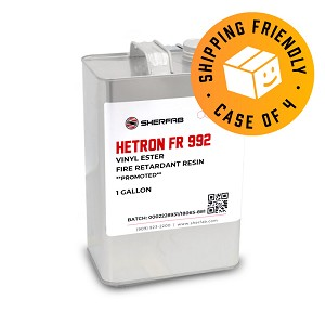 Hetron° FR 992 Flame Retardant Vinyl Ester Resin (Case of 4, 1 Gallon ea.)