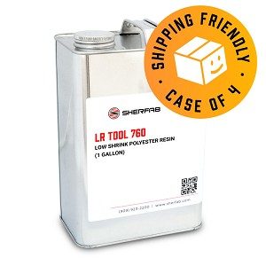 LR TOOL 760 Low Shrink Polyester Resin (Case of 4, 1 Gallon ea.)