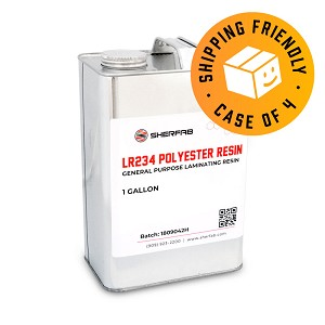 LR234 Polyester Laminating Resin (Case of 4, 1 Gallon ea.)