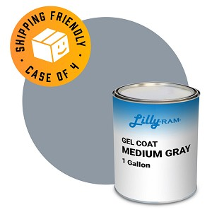 Medium Gray Gel Coat (Case of 4, 1 gallon ea.)