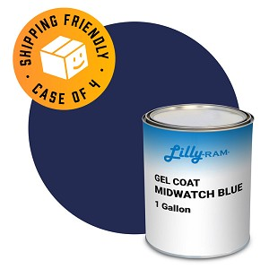 Midwatch Blue Gel Coat (Case of 4, 1 gallon ea.)
