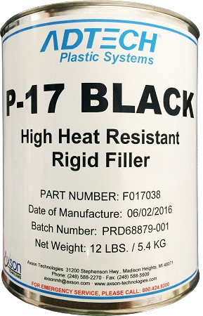 P-17 Black High Heat Resistant Rigid Filler- Quart