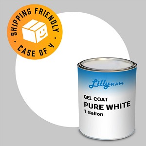 Pure White Gel Coat (Case of 4, 1 Gallon ea.)
