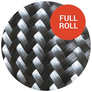 "3K 2x2 Twill Carbon Fiber - 50"" Wide (Full Rolls)"