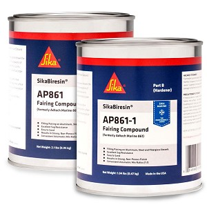 Ultra Fairing Compound AP861 (Marine 861 UltraFair) 1 Gallon Kit (1 gallon resin & 1 gallon hardener)