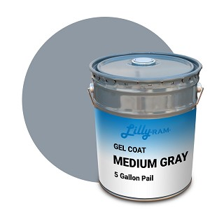 Medium Gray Gel Coat (5 Gallon Pail)