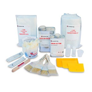 Polyester Resin Fiberglass Repair Kit (1 Quart)